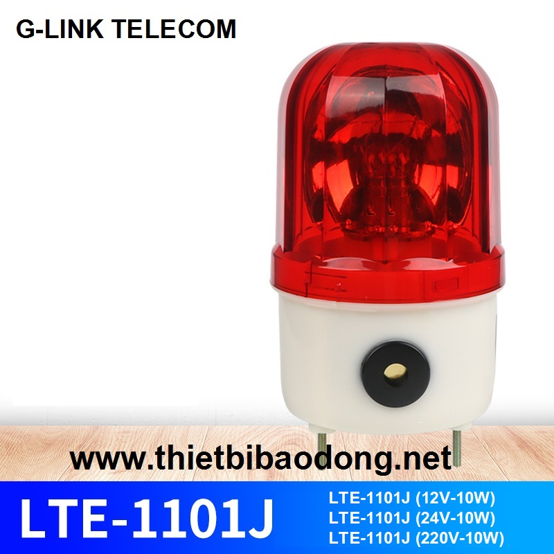 Đèn chớp báo độngcó còi LTE-1101J (24V-10W)